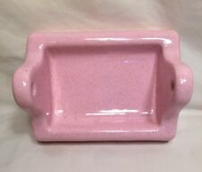 Vintage NOS Pink Porcelain  Ceramic Glossy Bathroom Toilet Paper Holder