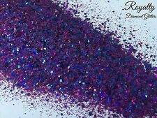Mixed glitter Gel/acrylic Nail art Holographic Purple Blue 6g Bag Royalty