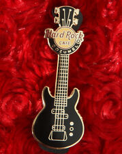 Hard Rock Cafe Pin COZUMEL Mexico Black Gibson es GUITAR lapel hat city logo