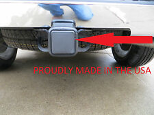 #1 Car Wash Proof Guaranteed Size 2 Inch Black Trailer Hitch Receiver Cover Plug
