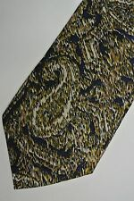 "Navy Abstract ""CARNAVAL DE VENISE""  Silk Tie, Made in ITALY. 3.8' WIDE 58"" LONG"