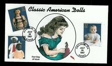 Handpainted Dynamite FDC 3151 Classic American Dolls #4 wih 3 Stamps Indian etc