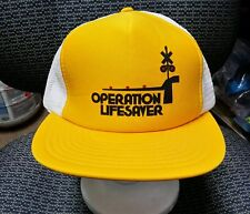VINTAGE OPERATION LIFESAVER RAILROAD HAT CAP (YELLOW/WHITE)