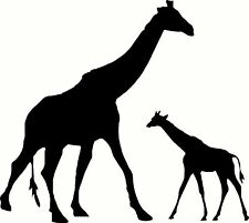"Giraffe & Baby Decal Sticker Animal Zoo 5"" X 6"" 24 Colors FREE SHIPPING"