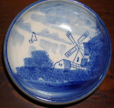 Pretty Small Blue and White Windmill Picture Bowl Ships Free in the USA