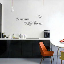"Popular ""Kitchen is The Heart of Home"" Quote PVC Wall Stickers Home Decor DIY FT"