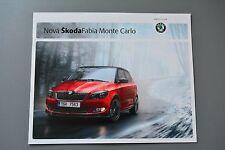 FOLLETO SKODA Fabia Monte Carlo 1.2 TSI 1.6TDI, edición en checo 2011