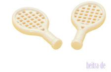 LEGO Friends - 2 x Tennisschläger weiss / White Tennis Racket / 93216 NEUWARE