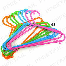★PACK OF 32★ KIDS/BABY CLOTHES HANGERS Childrens Toddler Coat Wardrobe Small Set