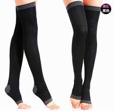 Women Slim Leg Sleep Compression Socks Varicose Spider Veins Thigh High Stocking
