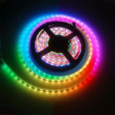 1M 60LED WS2812B 5050 RGB LED Strip Light Waterproof Addressable White Shell