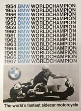 BMW Vintage Motorcycle Poster - 1954-1967 World Champion Sidecar RARE bike