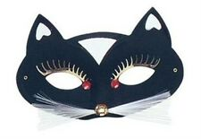Cat Masquerade Eye Mask With Whiskers Fancy Dress Accessory P1345