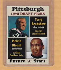 1970 Terry Bradshaw/Mel Blount Pittsburgh Steelers Draft Picks rookie stars