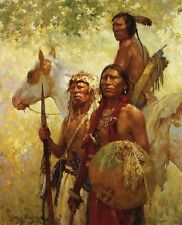 Howard Terpning Protectors of the Cheyenne People Sold out Canvas with COA