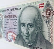 10 pesos El Banco De Mexico 1977 Bill Paper Money HIDALGO Uncirculated