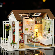 DIY Mini Wooden Dollhouse Happy Times Doll House LED Music Lights Furniture Kits