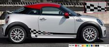 Sticker lip Stripe kit for mini Roaster john cooper works checkered graphics arm