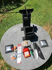 BIG BUGGER GRAVITY FEED ROCKET STOVE BUG OUT KIT by Outback Fabrications