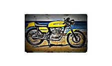 1969 ducati 450 desmo Bike Motorcycle A4 Retro Metal Sign Aluminium