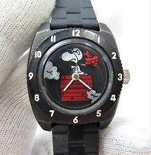 "SNOOPY & The RED BARON,US Time, ""Manual Wind"",RARE SMALL KIDS WATCH,1446,L@@K"