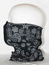 Multi use Biker Black Pattern Cycling Neck Tube  Snood Face Mask Warmer Bandana