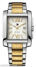 Tommy Hilfiger Two-tone Bracelet Men's Roman Numeral White Dial watch #1710316