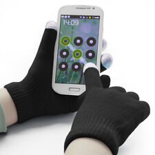 Black Touchscreen Winter Gloves For Use With All Touchscreen Electronics- Unisex