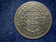 NEW ZEALAND: SCARCE SILVER HALF CROWN 1933 ABOUT VERY FINE!!