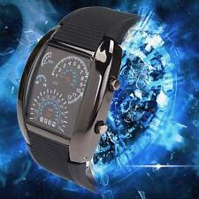 HOT Cool Men RPM Turbo Sport Watch Car Speed Meter Dial Flash LED Wrist Watch TR