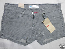 LEVIS womens blue stripe casual jeans shortie short size  11 / 30  new nwt