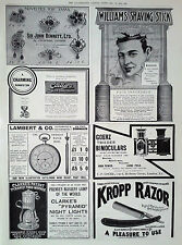 1905 ADVERT SIR JOHN BENNETT Ltd-WILLIAMS SHAVING STICK-CAILLERS MILK CHOCOLATE
