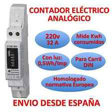 Counter Electric Light Analog Meter de Energy LCD Rail DIN Energy Meter