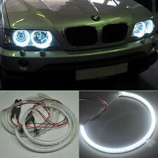 4pcs Xenon Led SMD Angel Eyes Halo Rings lights For BMW E53 X5 1999-2003 White