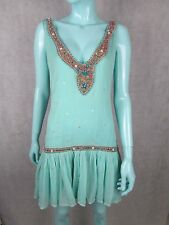 ANTIK BATIK EMBELLISHED DRESS WITH A LACE TIE BACK SIZE M