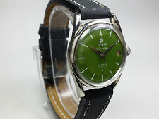 AUTHENTIC VINTAGE TITONI HAND-WINDING SWISS MADE FUNCTION DATE DIAL WRIST WATCH.
