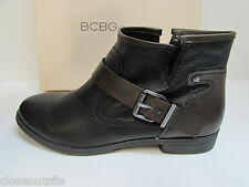 BCBG BCBGeneration Size 8 M Black Leather Ankle Boots  New Womens Shoes