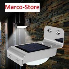 Faro faretto Led sensore PIR energia solare lampada fotovoltaico lampione luce
