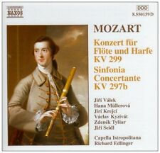 CD Wolfgang Amadeus Mozart Concerto For Flute & Harp K. 299 80`s Naxos