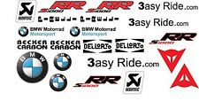 BMW S1000RR bike, motorcycle, stickers, decals BREMBO, Ohlins etc