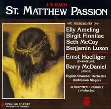 St Matthew Passion Hts Bach, J.S., Ameling, Finnilae, Mccoy, Luxon Audio CD