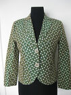 AKRIS PUNTO FITTED COTTON IRIDESCENT DOT JACKET US 8
