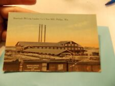 KNEELAND MCLUNG LUMBER SAW MILL PHILLIPS  WIS WISCONSIN POST CARD POSTCARD