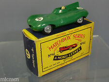 MATCHBOX MOKO LESNEY MODEL No.41b  JAGUAR 'D' TYPE   *RARE*  MIB