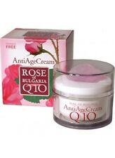 Rose of Bulgaria ANTI AGE CREAM 50ml with Natural Rose Water, Q10, PARABEN FREE