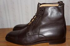 Bally Made in Switzerland Brown Cap Toe Dress  Boots 10.5 E