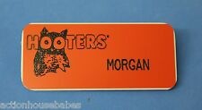 HOOTERS RESTAURANT GIRL MORGAN ORANGE NAME TAG (PIN)