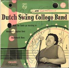 NEVA RAPHAELLO / DUTCH SWING COLLEGE BAND VOCAL JAZZ 50'S EP Dédicacé !