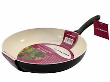 Prima 24cm Non stick Frying Pan Ceramic Coating Cream with Soft Touch Handle