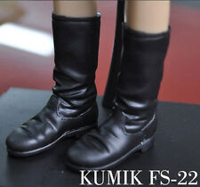 KUMIK FS-22 Leather Shoes 1/6 Scale Model Black Female Boots F 12'' Figure Toys